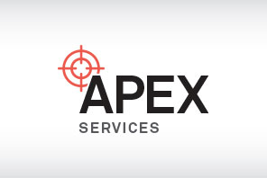 Apex Services with the red Veripos target.